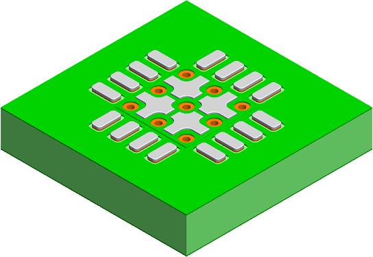 IPC-7093A BTC: QFN Solder Mask Defined Thermal Pad - PCB