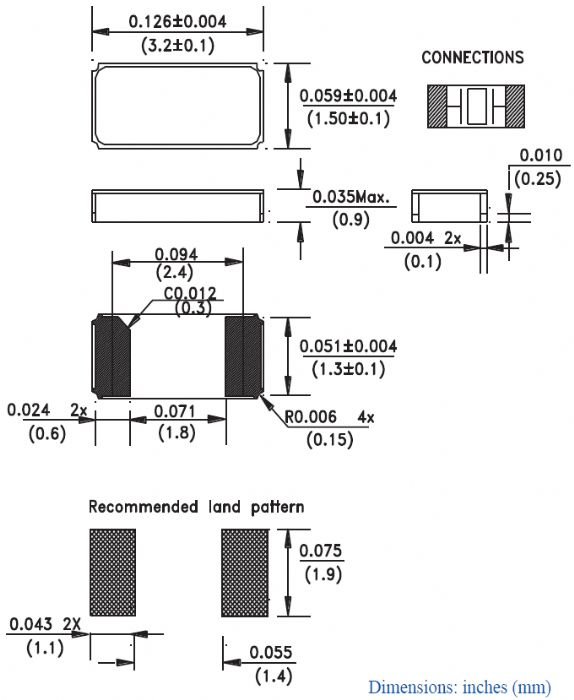 Footprint For Chip Type Crystal - PCB Libraries Forum